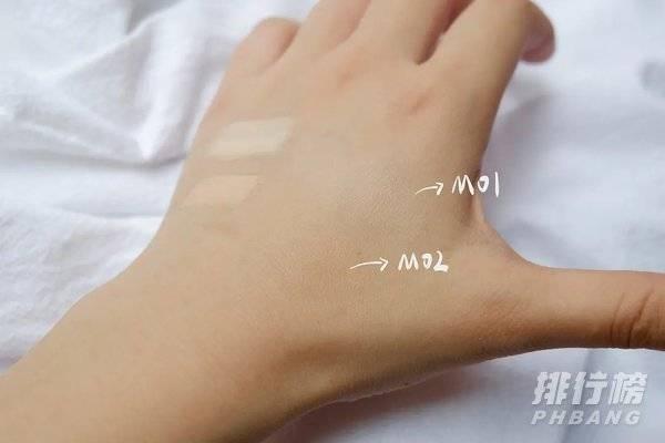毛戈平粉底膏色号m01和m02试色_毛戈平粉底膏色号测评