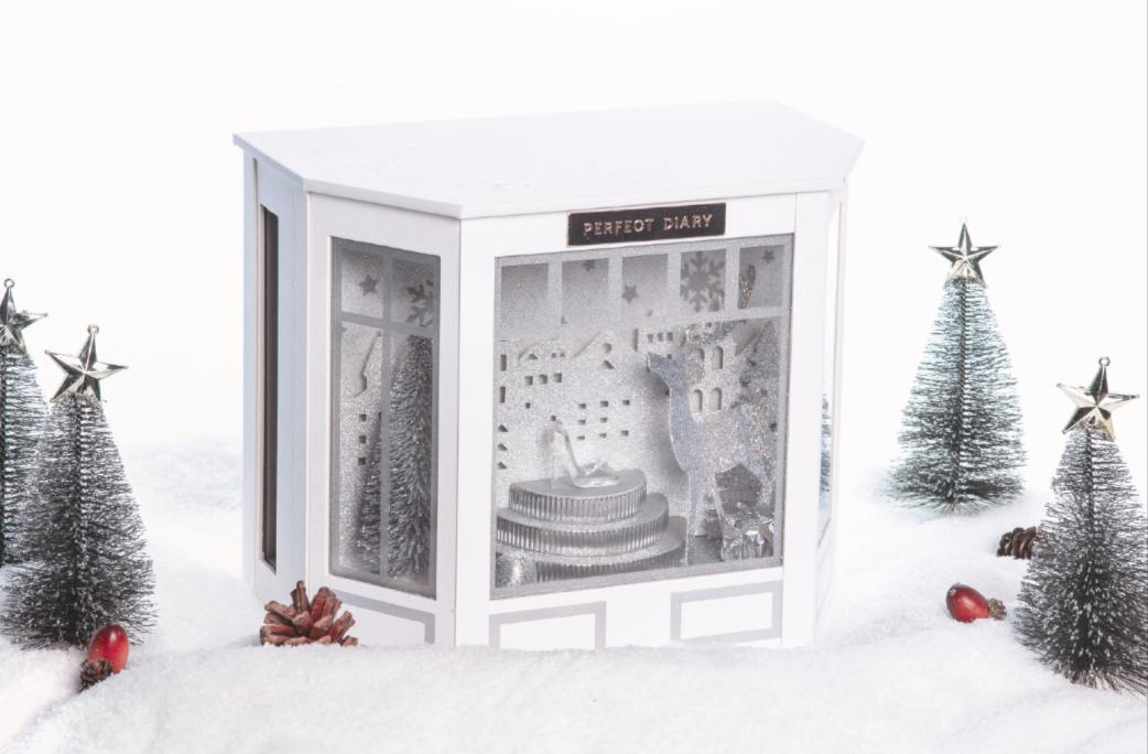 完美日记圣诞节礼盒2020_完美日记水晶橱窗礼盒价格
