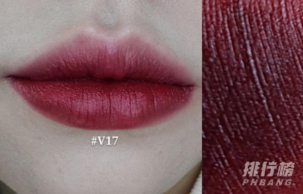 完美日记红丝绒唇釉v17试色_完美日记红丝绒唇釉v17和v18哪个好看