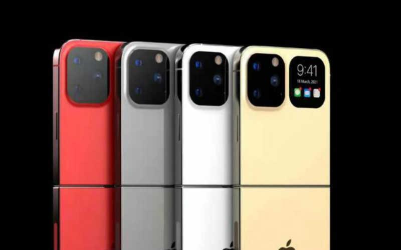 iphone折叠屏手机渲染图_苹果折叠屏手机渲染图