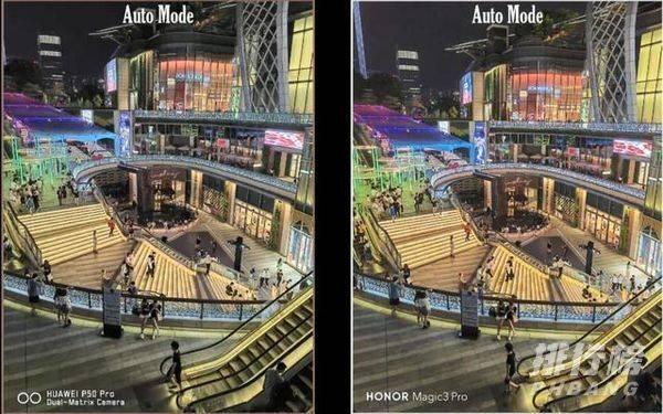 华为P50Pro、荣耀Magic3Pro和小米MIX4夜景拍照对比