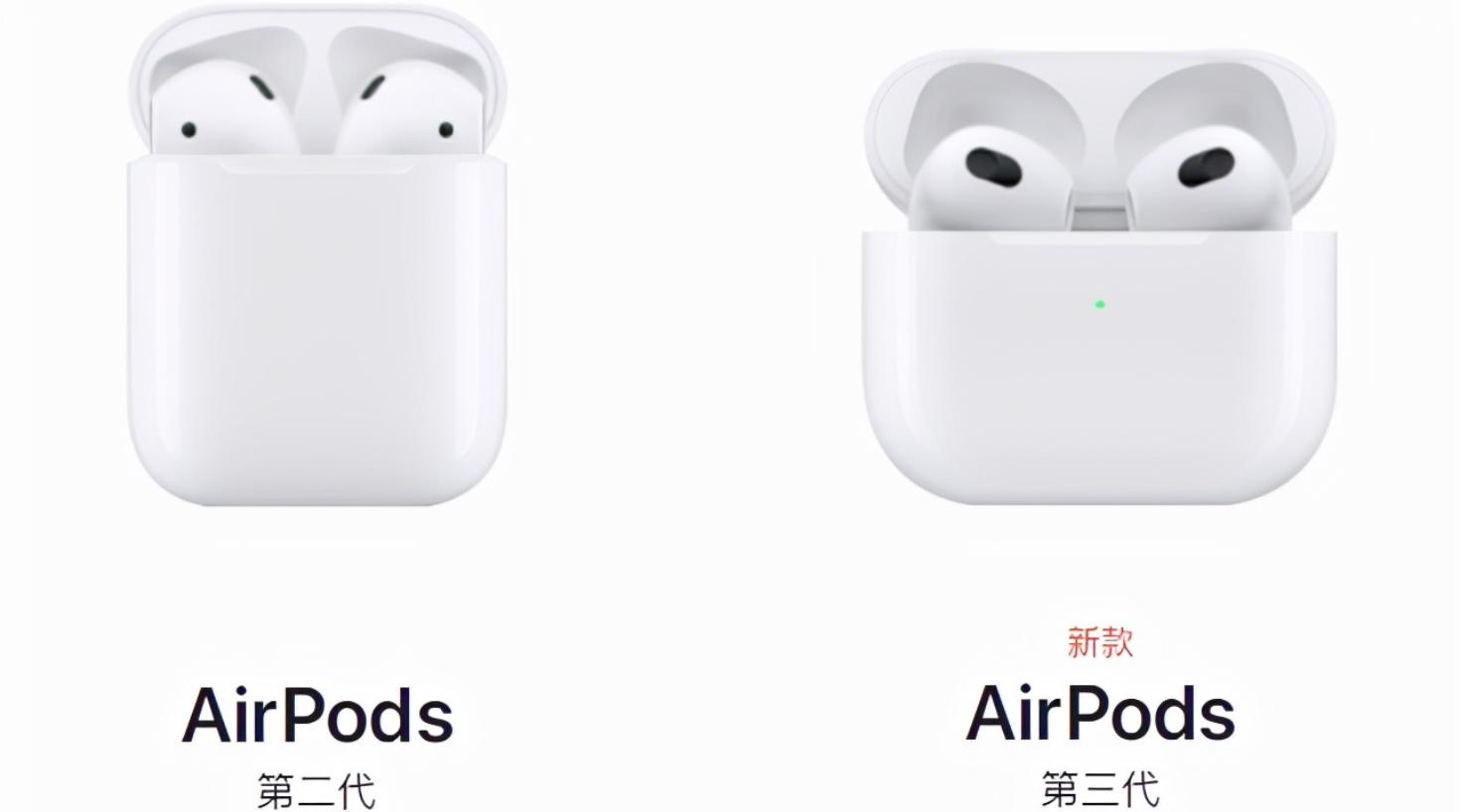 airpods 3和2 有什么区别_airpods3和2盒子有区别吗